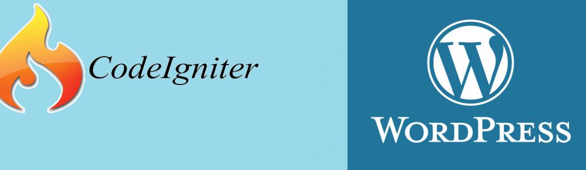 Best Way-Port Codeigniter to WordPress